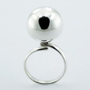 Chimming big ball silver ring