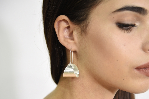 Chunky cone drop earrings