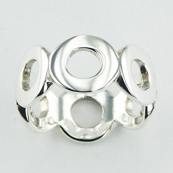 Open oval mini band ring
