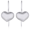 Sentimental shiny heart earrings