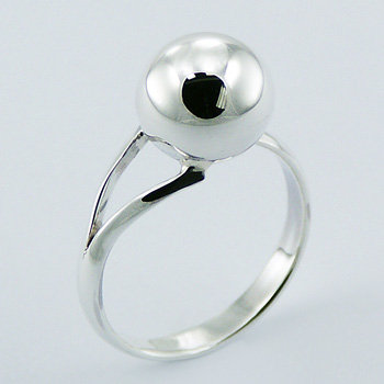 Small ball silver ring