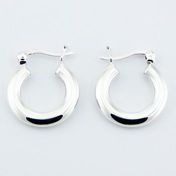 Small classic hoop earrings