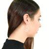 Textured spiral hook silver earrings