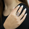 Flowing silver shaped ring