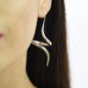 Funky spiral drop earrings