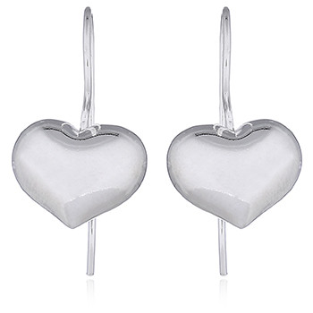 Sentimental shiny heart earrings