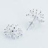 Shiny silver stud earrings
