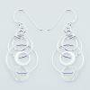 Silver dangle interlocked earrings