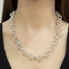 Round solid Sterling silver Belcher necklace